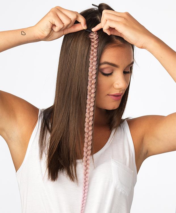 Metallic Braid Extension Hairuwear